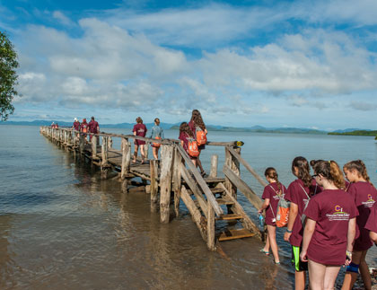 Students exploring the mangroves of Costa Rica