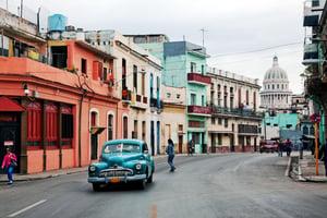 Cuba - Car on Street in Havana