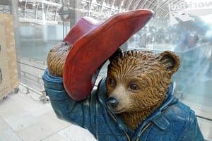 London - Paddington Bear Statue at Railway Station