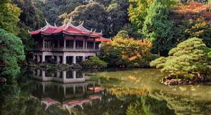 Pagoda in a Tokyo garden