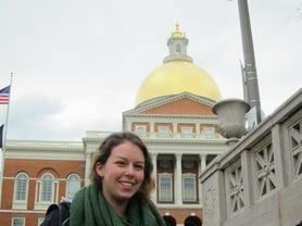 Boston - Girl at Capitol Building