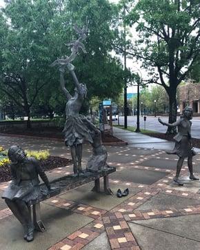 Birmingham Kelly Ingram Park statues of girls