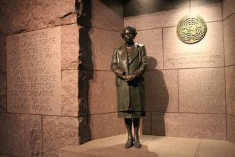 DC Eleanor Roosevelt Statue & Quote