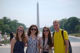 Students at Washignton Monument