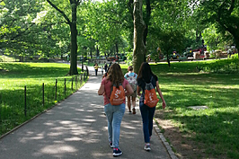 NYC - Girls Walking in Central Park