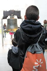 Boy at Liberty Bell