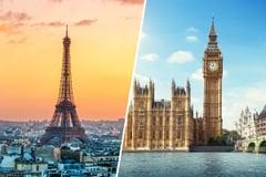 Eiffel Tower in Paris & Big Ben in London