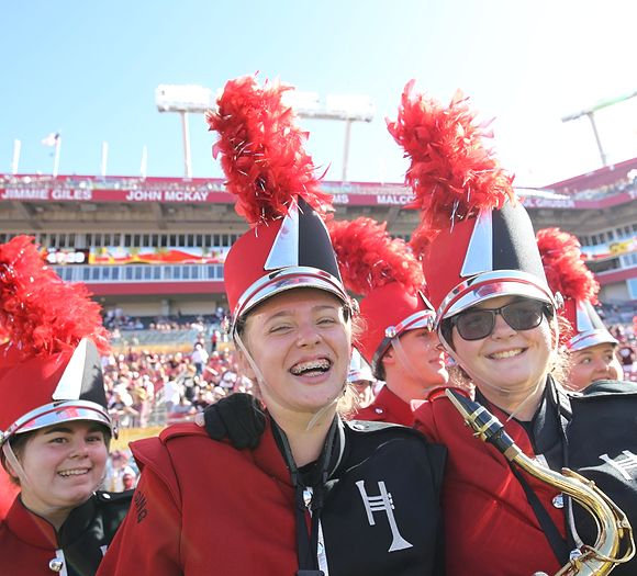 Girls laughing at Outback Bowl