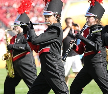 girls performing during the outback bowl
